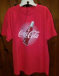 Vintage Coca-Cola T-shirt Classic Red & Bottle Logo Graphic Authentic XL 2011
