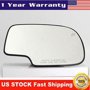 Mirror Glass Power Heated Right Side For 99 2007 Chevy Silverado Yukon Avalanche