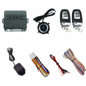 Vehicle Car Alarm Security System Engine Ignition Start Push Button Remote Dc12v