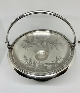 Antique Victorian Silver Plate Brides Basket