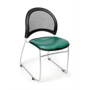 Moon Stack Vinyl Chair Teal