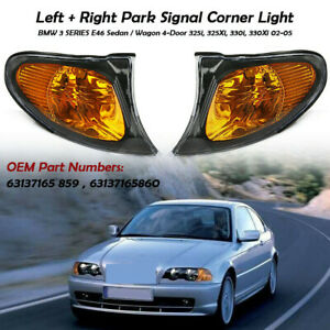 2x Corner Marker Parking Light Turn Signal For Bmw 3 Series E46 02 05 325i 325xi