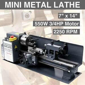 7 X 14 mini Metal Lathe Machine 550w Variable Speed 0 2500 Rpm Iron Body