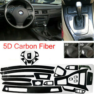 Reflective Carbon Fiber Inner Vinyl Sticker Decal For 2005 2013 Bmw 3 Series E90