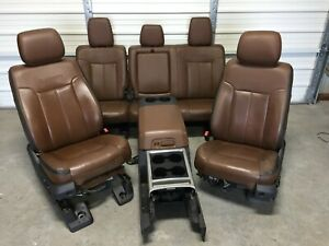 1999 2016 Ford F250 F350 Super Duty Front Rear Seats Console Platinum Leather