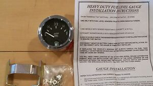 New Electric Fuel Level Gauge 2 Free Gift Of Chrome Bolt Caps