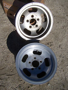 Will Ship Us Indy 14x7 Aluminum Slot Gm 5x4 3 4 Pair 2 Rat Street Rod Vintage