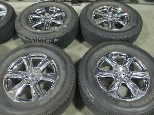 18 Ford F150 Chrome Pvd Factory Oem Wheels Rims Michelin Tires Expedition 10168