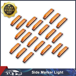 20x 4 Led Amber Utility Strip Light Bar Side Marker Trailer Lamp For Rv Boat