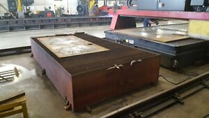 Cnc Plasma Water Table 5 x10 table Only removable Slag Pans new Slats clean