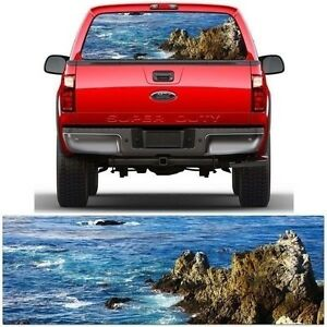 Blue Sea Rear Window Truck Graphic Tint Fits Ford Chevrolet Dodge Toyota Mg9100
