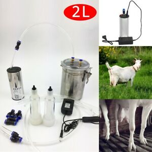 1 2 Gal 2l Teats Goat Milker Electric Sheep Milking Machine Stainless Steel Tool