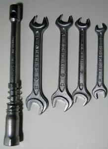 Vintage Mercedes Toolkit Wrench Set 17 19 14 17 11 13 8 10 Lug Wrench Heyco