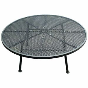Mid Century Modern Woodard Low Patio Dinette Lounge Coffee Table Iron 1960s