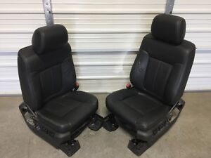 09 14 Ford F150 Fx4 Lariat Front Leather Seats Heat Cool Black Leather Seat Set