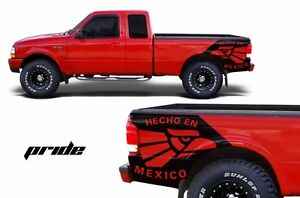 Custom Graphics Vinyl Decal Pride Wrap Kit For Ford Ranger 1998 2000 Matte Black