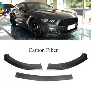 Carbon Fiber Front Bumper Lip Splitters Spoiler Fit For Ford Mustang 2door 15 17