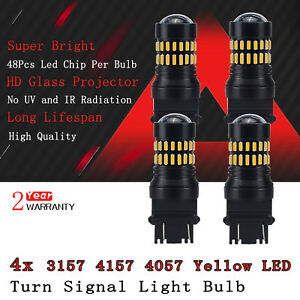 4x Auxito Amber 4157 3457 3157 Led Turn Signal Light Blinker Corner Light Bulbs