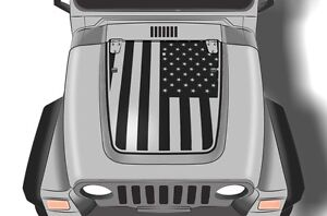 Vinyl Graphics Decal Hood Wrap For 1999 2006 Jeep Wrangler Patriot American Flag