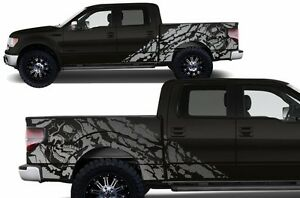 Custom Vinyl Decal Graphics Nightmare Wrap Kit For Ford F 150 09 14 Satin Silver