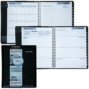 2020 At a glance Dayminder G545 00 Weekly Monthly Planner Black Cover