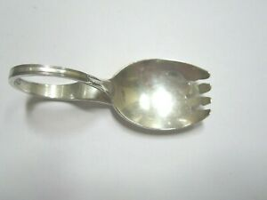 Unusual Sterling Silver Baby Spoon Or Fork