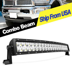24inch 280w Led Light Bar Curved Spot Flood Offroad Ford Truck 4wd Atv Boat 22
