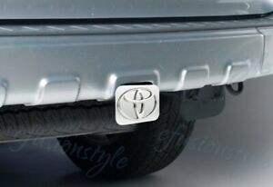 Toyota Logo Chrome Stainless Steel Hitch Cover Plug Cap 2 Trailer Tow Receiver