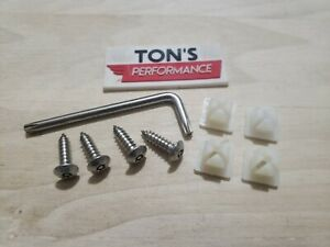 4 Anti Theft Auto Security License Plate Screws Stainless Steel Car Truck Torx