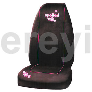 1 Spoiled Pink Flowers Car Seat Cover Auto Truck Soft Girly Plush Fabric Bucket