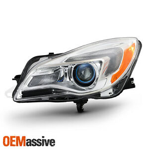 Halogen Projector Headlight For 2014 2017 Buick Regal Chrome Driver Left Side