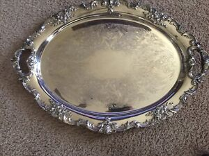 Reed And Barton King Francis Silver Plate 30 Waiter 1900 1940