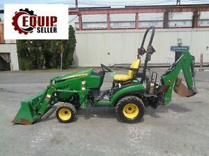 2016 John Deere 1025r Backhoe Tractor Diesel Low Hours
