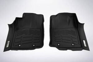 2 piece Front Row Black Floor Mats For 2012 2015 Toyota Tacoma Double Cab