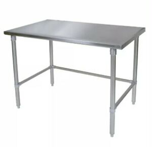 Amgood Stainless Steel Work Table 14 X 24 X 35 With Open Base