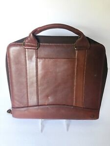Vintage Brown Riverwood Leather Franklin Covey 7 Ring Binder