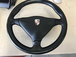 Porsche 996 Boxster Steering Wheel Black Leather 6 Speed 97 04