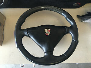 Porsche 996 Carbon Fiber Steering Wheel Oem Techart