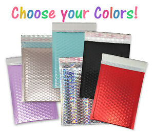 6 Colors 6x9 Bubble Mailers Metallic Shipping Envelopes 6x10 Purple Red Blue