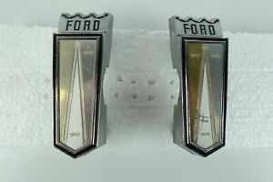 1966 Ford Galaxie 500 Right Left Front Fenders Emblems Oem Vintage