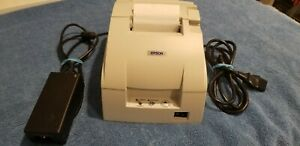 Epson Tm u220pd Point of sale Receipt Printer Model M188d White W All Cables
