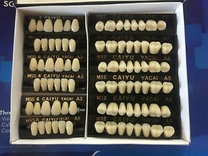 3 Complete Sets Acrylic Denture Teeth A3 Siz Medium In One Box