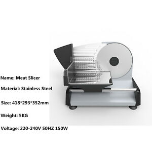 Electric Meat Slicer Cheese Cutter Food Slicer Stainless Steel 220v Eu Plug