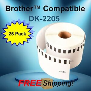 25 Rolls Labels123 Brand fits Brother Dk 2205 P touch Ql700 Ql500
