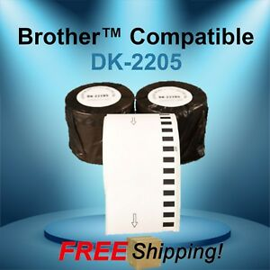 Brother Ql Compatible Dk 2205 Continuous Feed Thermal White Labels Multipurpose