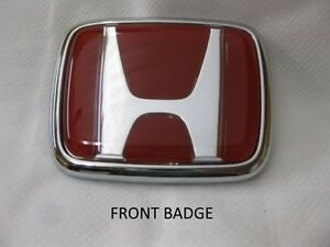 New Oem Jdm Honda S2000 Red H Emblem Set front And Rear Fits All 1999 2009