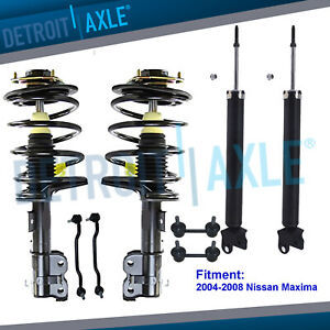 Front Rear Struts Assembly Shock Absorbers Sway Bars For 04 08 Nissan Maxima