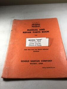 Bantam Koehring Model 200 Carrier Chassis Body Parts Manual
