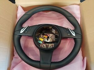 99134780345 Porsche 991 981 Oem Multifunction Steering Wheel Leather No Heat
