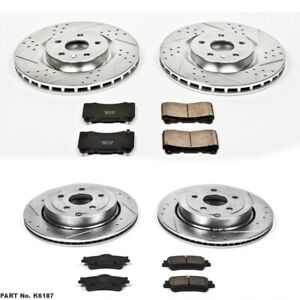 Power Stop K6187 Brake Kit For 2009 Pontiac G8 Gxp With 355mm Front Rotors
